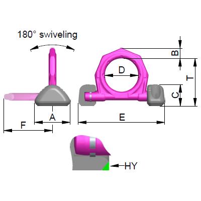 Navařovací dvoukozlíkový bod - VRBS-FIX - RUD