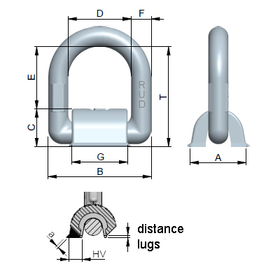 Lbs Rs Load Ring For Welding Stainless Steel Rud
