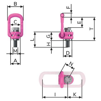 Otočný vázací bod se sklopným kruhem VLBG - RUD